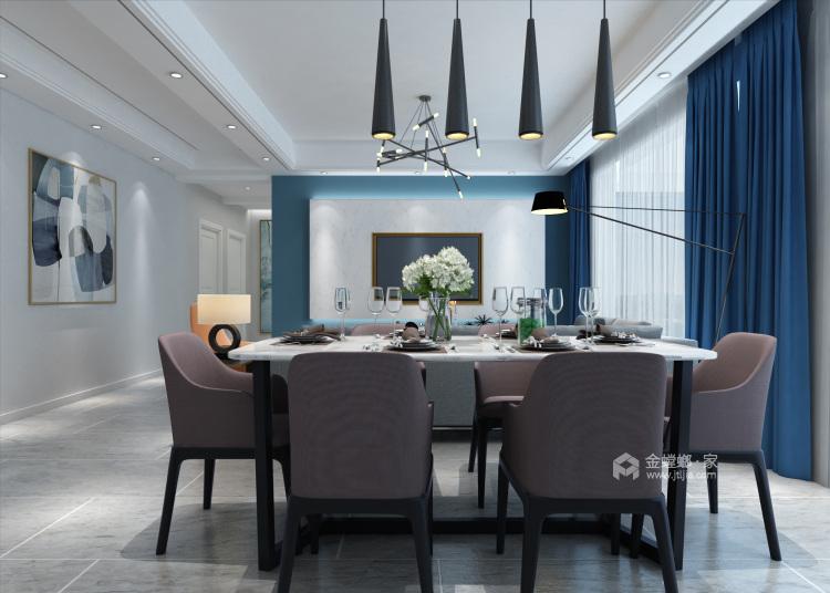 灰蓝色调,打造简约不单调的家-餐厅效果图及设计说明