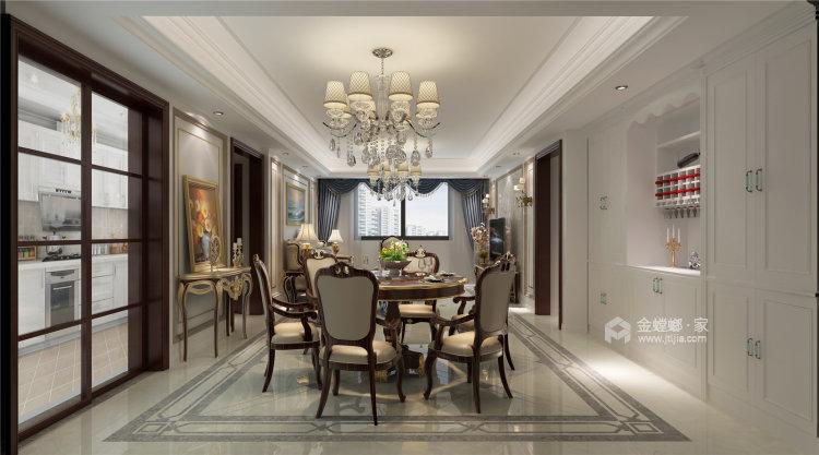 象牙白的欧式,让家充满高级感-餐厅效果图及设计说明