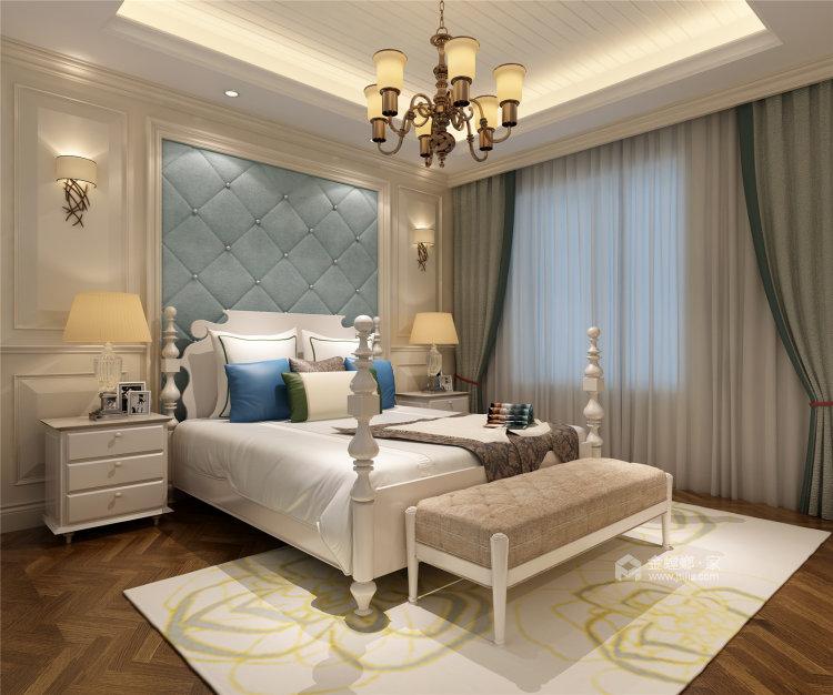 象牙白的欧式,让家充满高级感-卧室效果图及设计说明