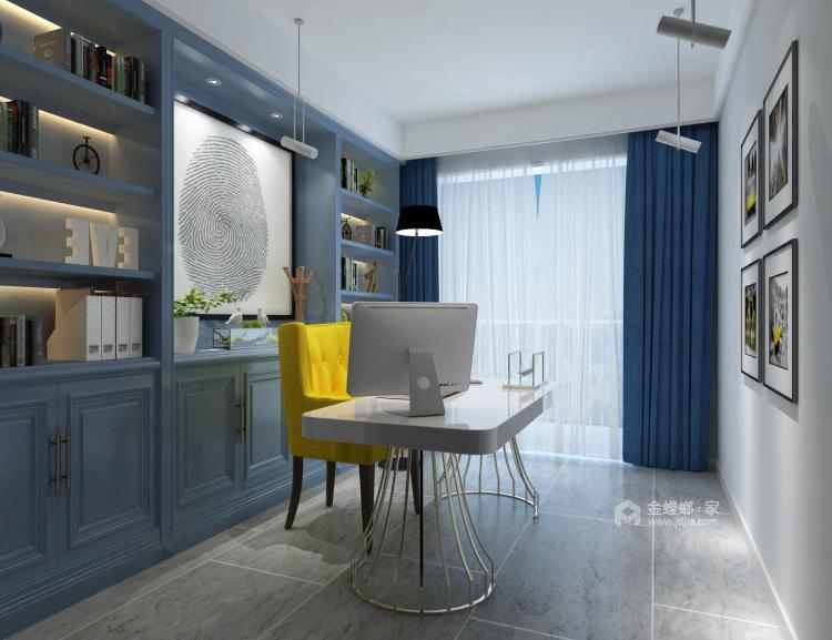 灰蓝色调,打造简约不单调的家-书房