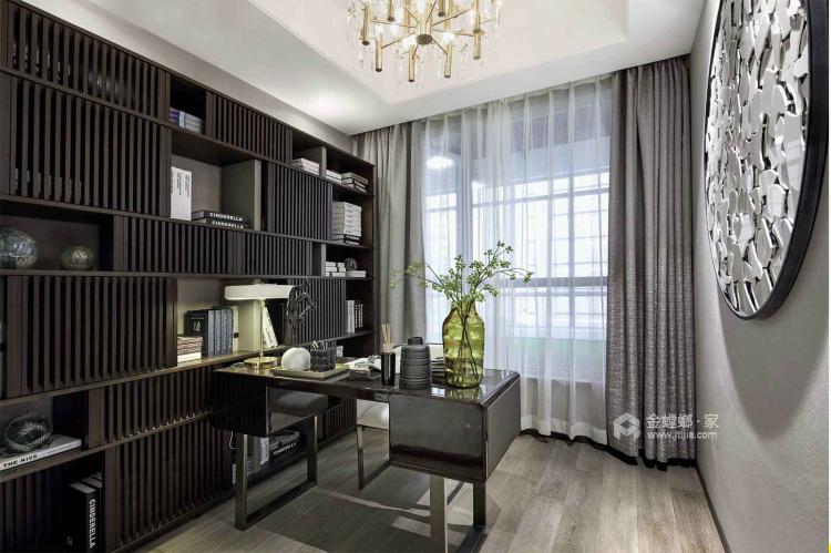 一个元气满满的欧式风格的家-书房