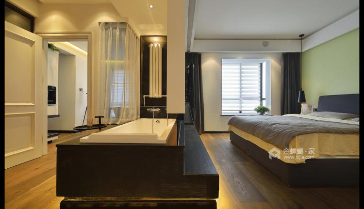 减法人生,灰色线条勾勒极简生活-卧室效果图及设计说明