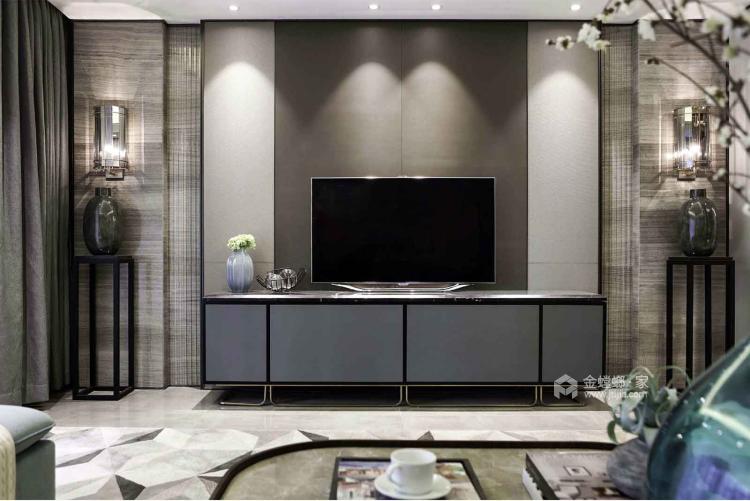 一个元气满满的欧式风格的家-客厅效果图及设计说明