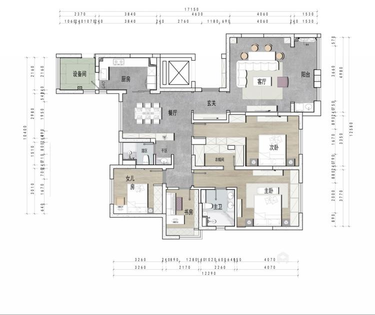 一个元气满满的欧式风格的家-平面设计图及设计说明