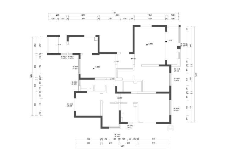 一个元气满满的欧式风格的家-业主需求&原始结构图