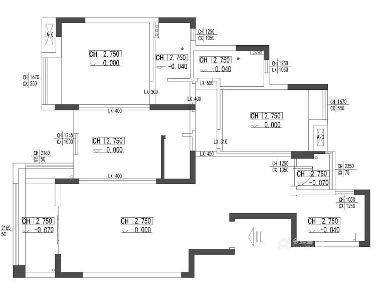 整洁现代风的家,每个人都适用-业主需求&原始结构图