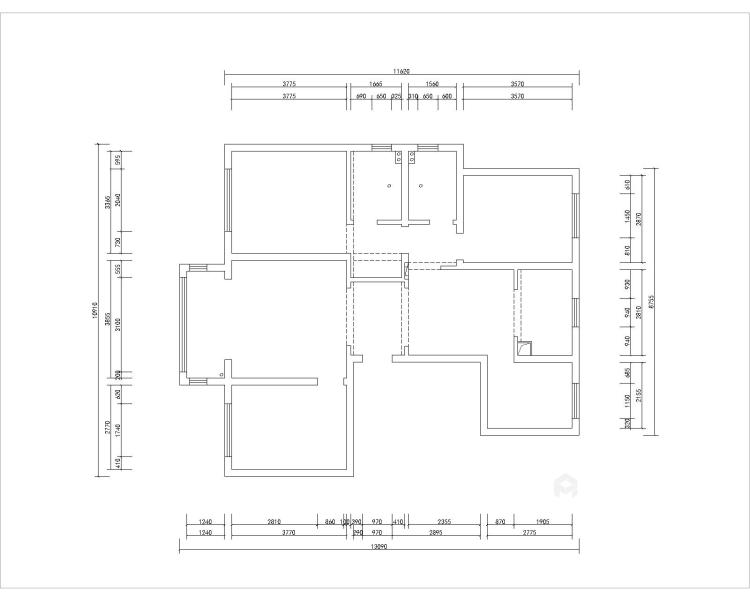 黑白灰搭配出的多彩家居生活-业主需求&原始结构图