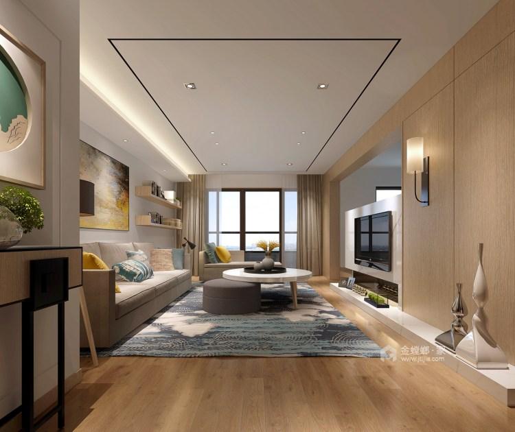 整洁现代风的家,每个人都适用-客厅效果图及设计说明