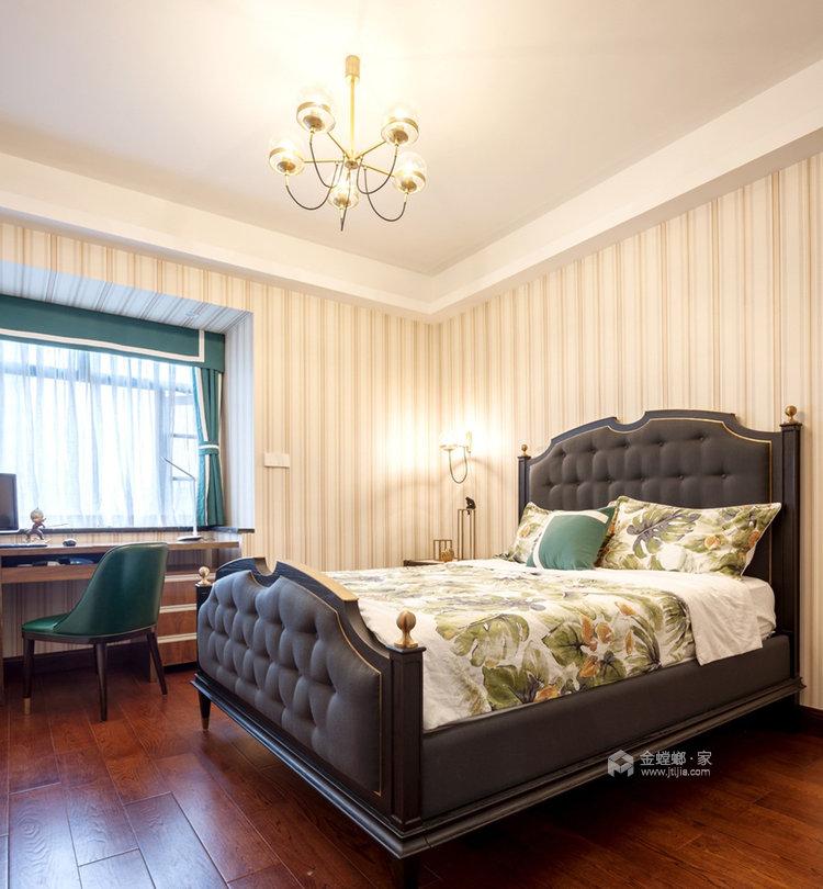 美式轻奢里的清新悠然-卧室效果图及设计说明