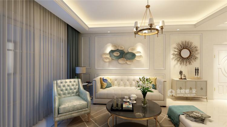 拒绝繁杂,最爱精致实用的简约欧式-客厅效果图及设计说明
