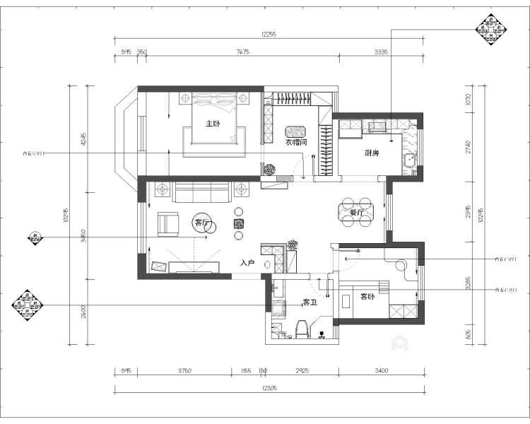 软硬装的合理搭配,重新定义轻松家庭生活-平面设计图及设计说明