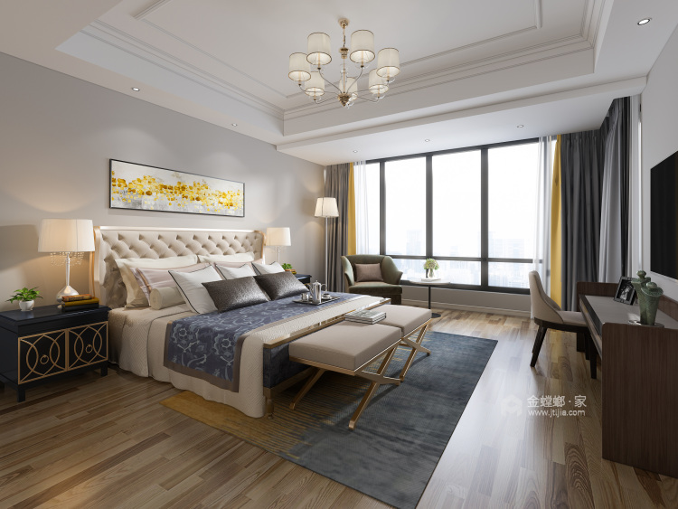 后现代轻度奢华,值得你拥有-卧室效果图及设计说明