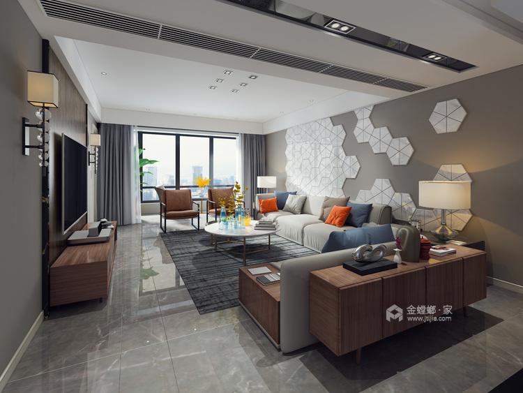 后现代轻度奢华,值得你拥有-客厅效果图及设计说明