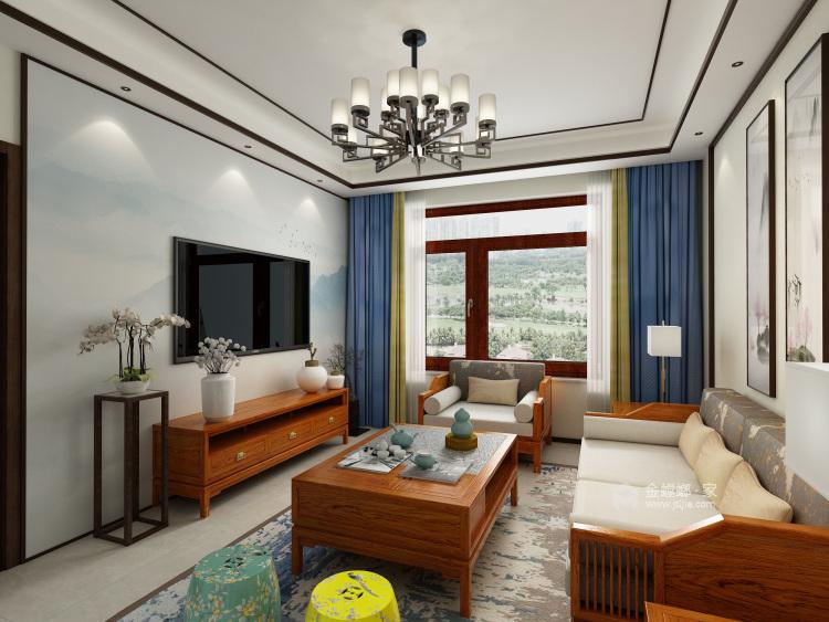 软硬装的合理搭配,重新定义轻松家庭生活-客厅效果图及设计说明
