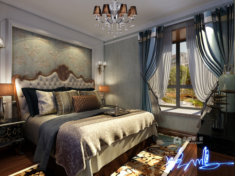 古典欧式,彰显与众不同的气质-卧室效果图及设计说明