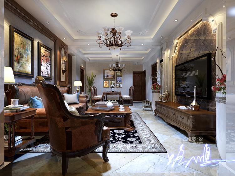 古典欧式,彰显与众不同的气质-客厅效果图及设计说明