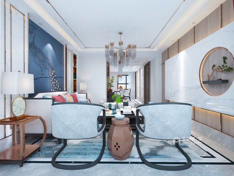 165平轻奢新中式,中式与年轻时尚的融合-空间效果图