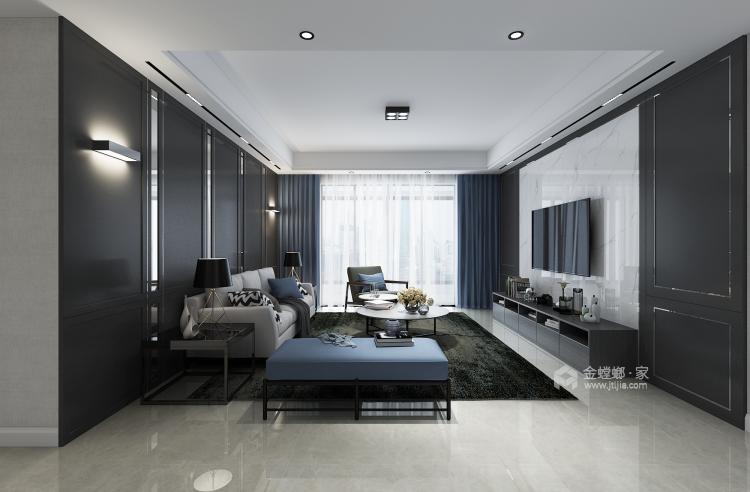 150平现代风,满足你对家的想象-客厅效果图及设计说明