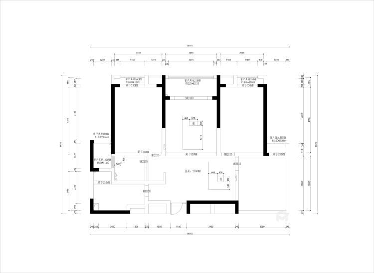 132平美宅,教你如何打造温馨的五口之家-业主需求&原始结构图