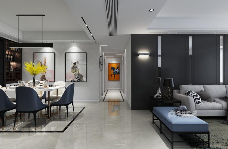 150平现代风,满足你对家的想象-餐厅效果图及设计说明