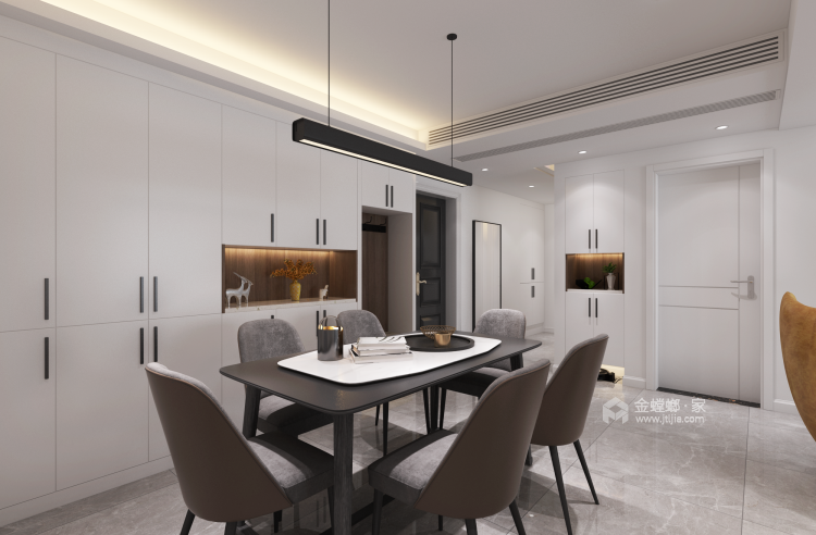 132平美宅,教你如何打造温馨的五口之家-餐厅效果图及设计说明