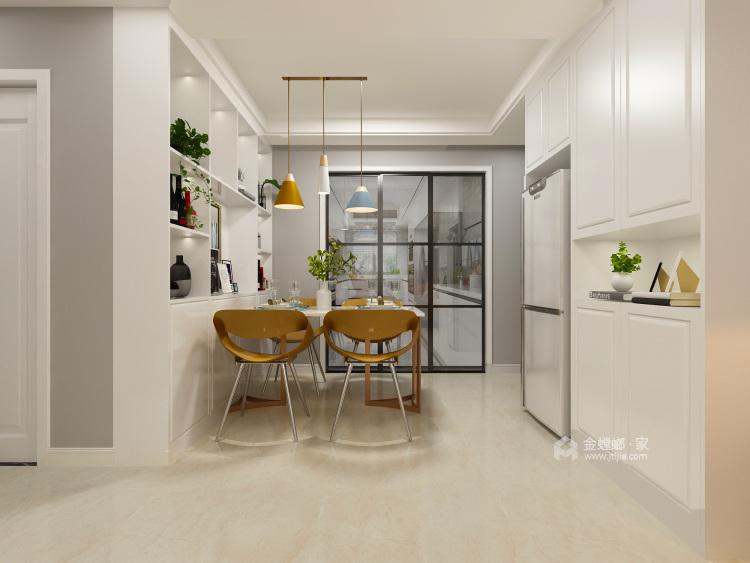 一房、两人、三餐、四季、一辈子的生活,94平北欧风-餐厅效果图及设计说明
