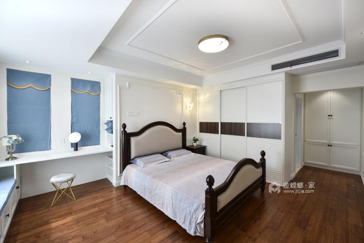 实景 200平现代美式 主打海蓝色 温馨又不失品味-卧室效果图及设计说明