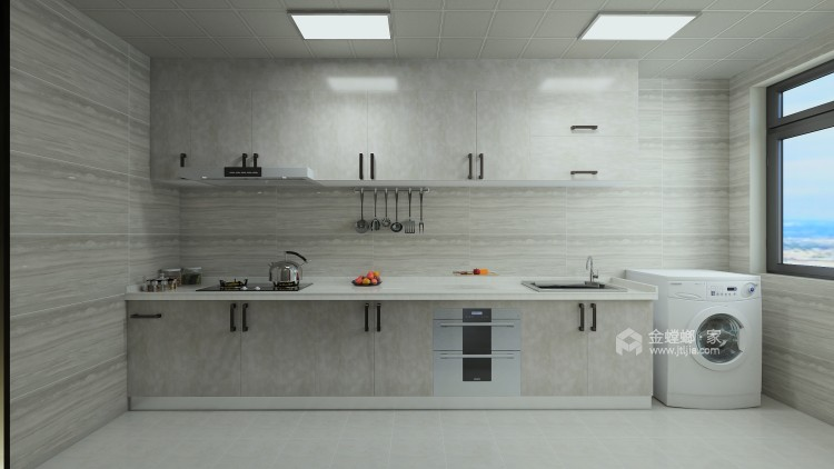 巧妙混搭的轻奢现代设计,每平方都透露出高雅范-厨房