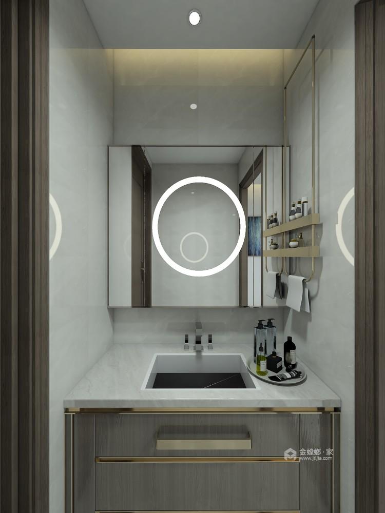 巧妙混搭的轻奢现代设计,每平方都透露出高雅范-卫生间