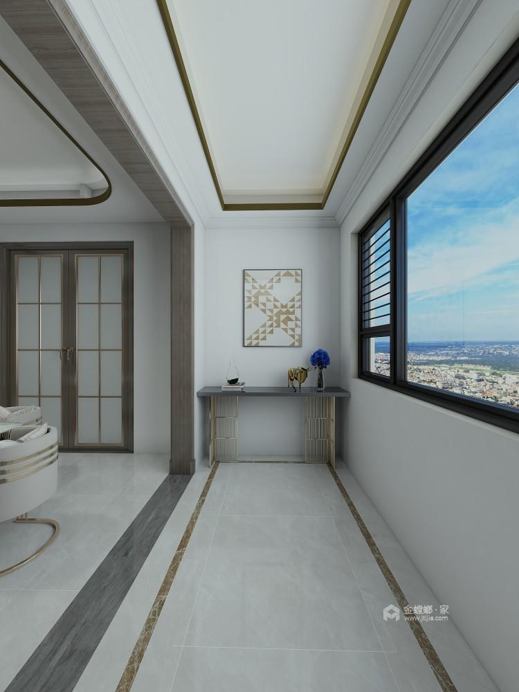 巧妙混搭的轻奢现代设计,每平方都透露出高雅范-阳台
