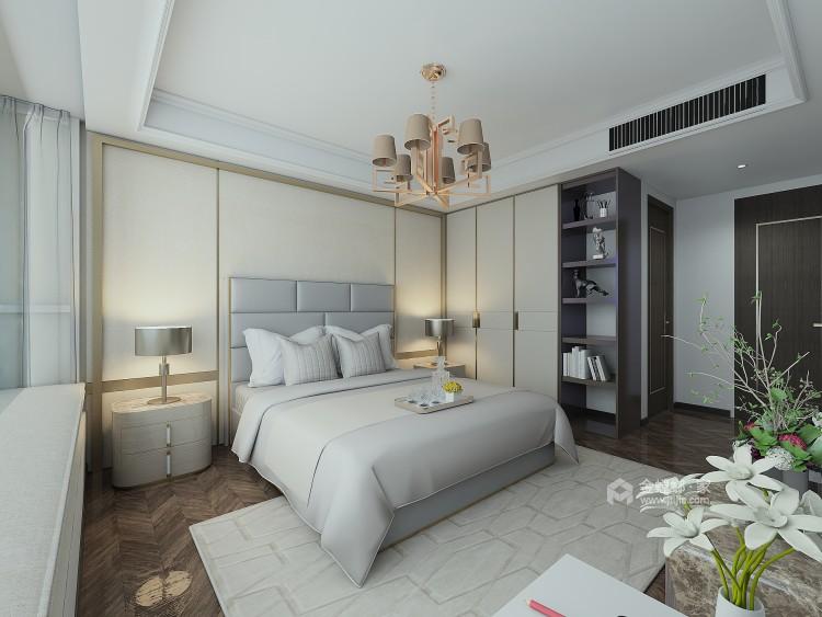 巧妙混搭的轻奢现代设计,每平方都透露出高雅范-卧室效果图及设计说明