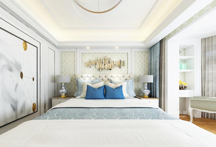 三代同堂现代风,温馨典雅的大平层-卧室效果图及设计说明