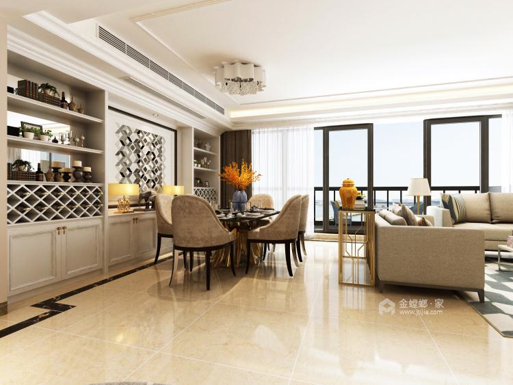 200平独立大平层,温馨浪漫的现代风-餐厅效果图及设计说明