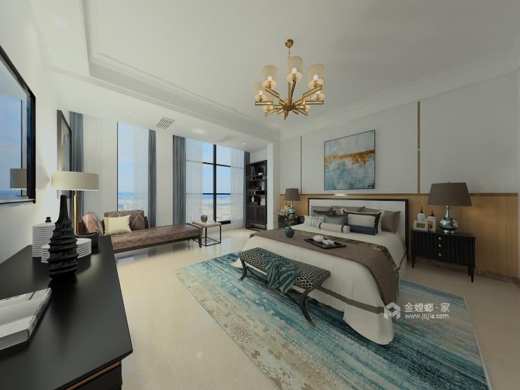 600平大别墅,舒适典雅的现代风-卧室效果图及设计说明