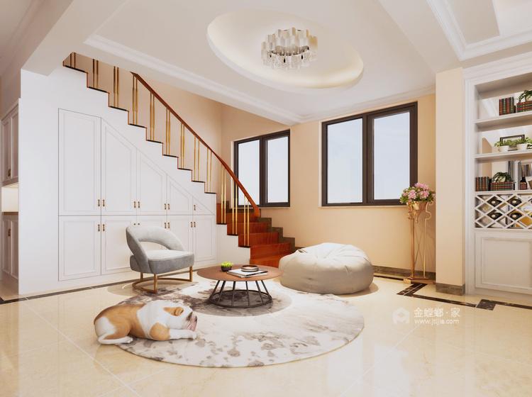 200平独立大平层,温馨浪漫的现代风-客厅效果图及设计说明