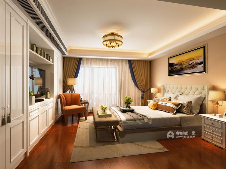 200平独立大平层,温馨浪漫的现代风-卧室效果图及设计说明