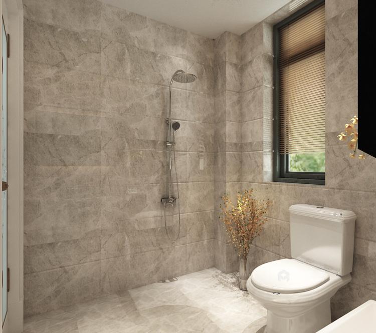三代同堂现代风,温馨典雅的大平层-卫生间