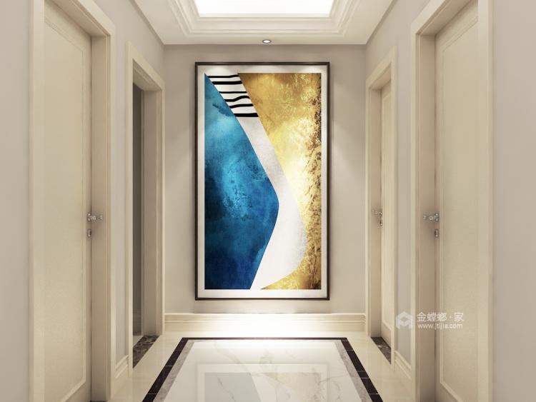 三代同堂现代风,温馨典雅的大平层-走廊