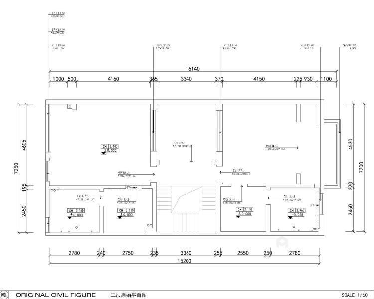 600平大别墅,舒适典雅的现代风-业主需求&原始结构图