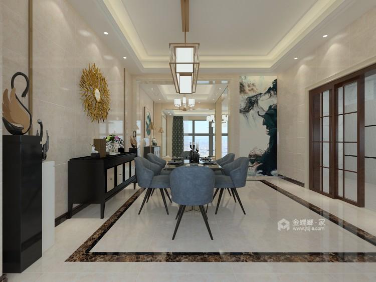 600平大别墅,舒适典雅的现代风-餐厅效果图及设计说明