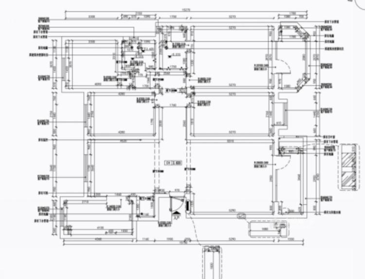 三代同堂现代风,温馨典雅的大平层-业主需求&原始结构图