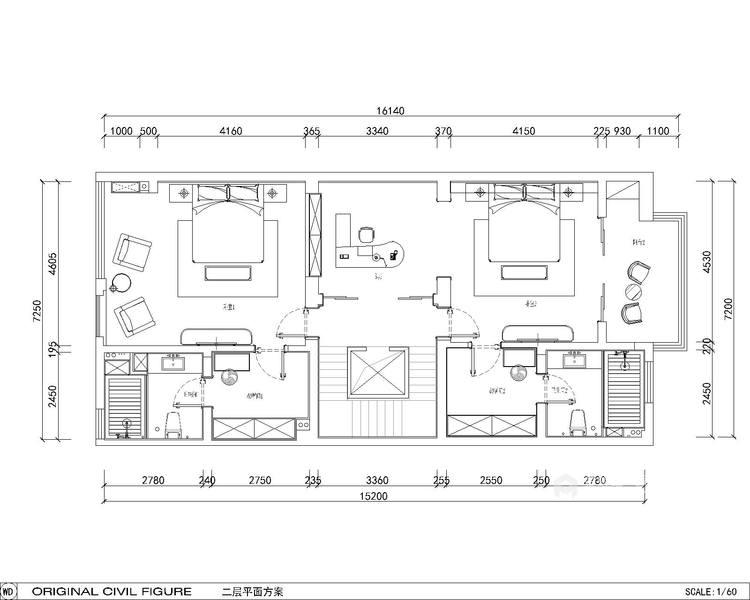 600平大别墅,舒适典雅的现代风-平面设计图及设计说明