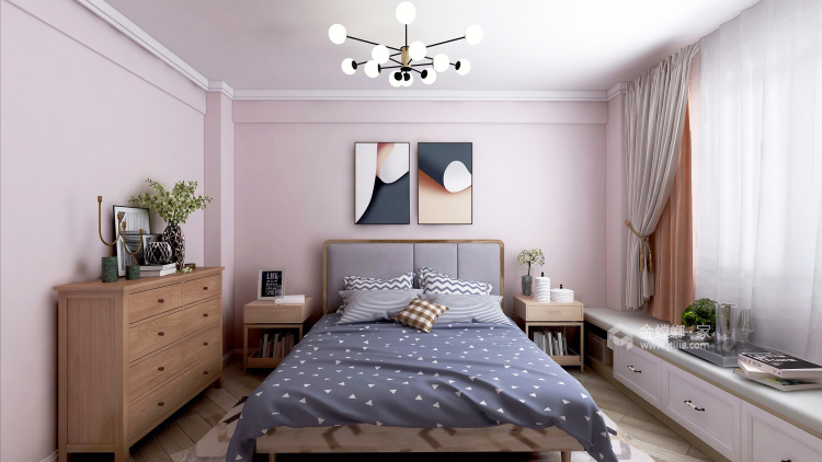 见了那么多北欧风设计,还是这套最好看!-卧室效果图及设计说明