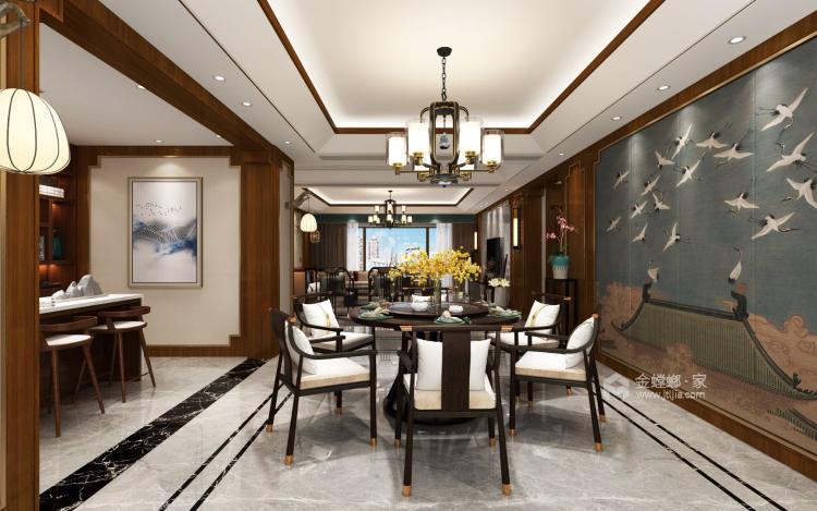 碧桂园260平大户型中式设计精美图-餐厅效果图及设计说明