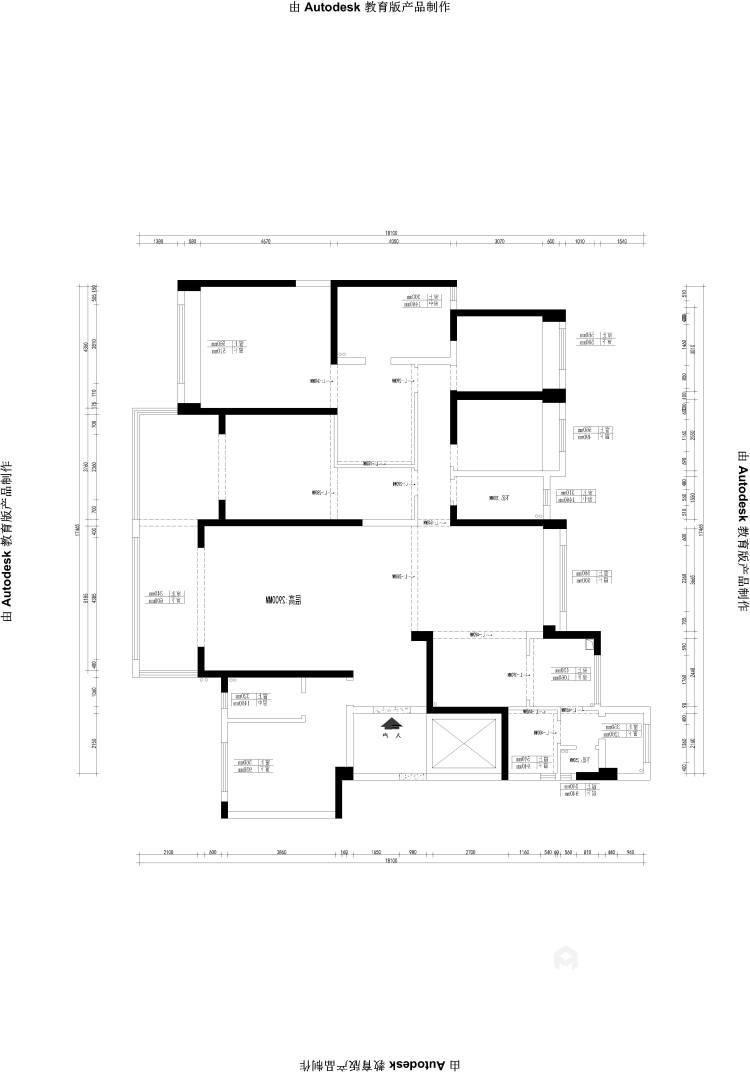 碧桂园260平大户型中式设计精美图-业主需求&原始结构图