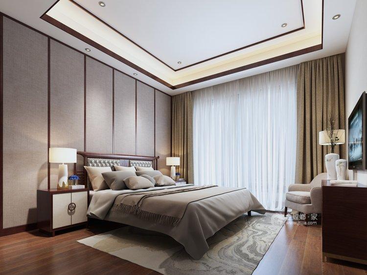 碧桂园260平大户型中式设计精美图-卧室效果图及设计说明