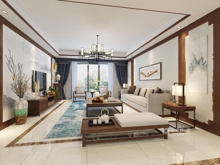 阳光微照,壁饰花鸟,也是一种生活-客厅效果图及设计说明
