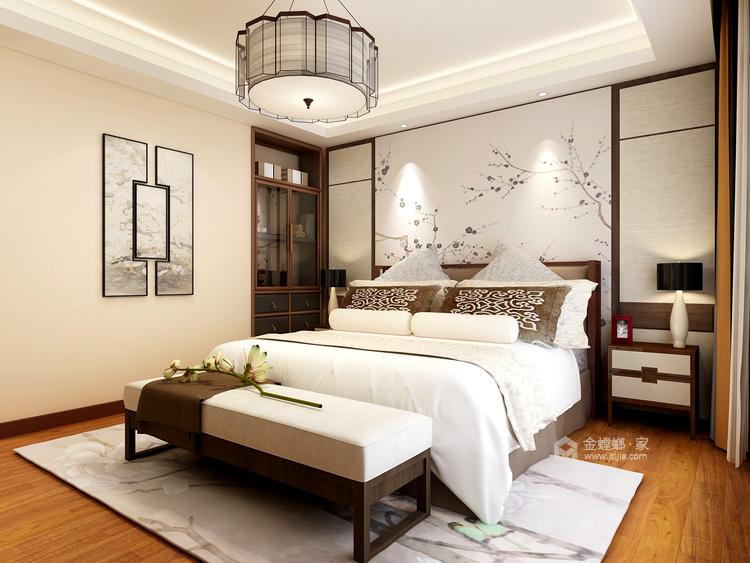 注重韵味的表达 空间和谐--263平新中式赏析-卧室效果图及设计说明