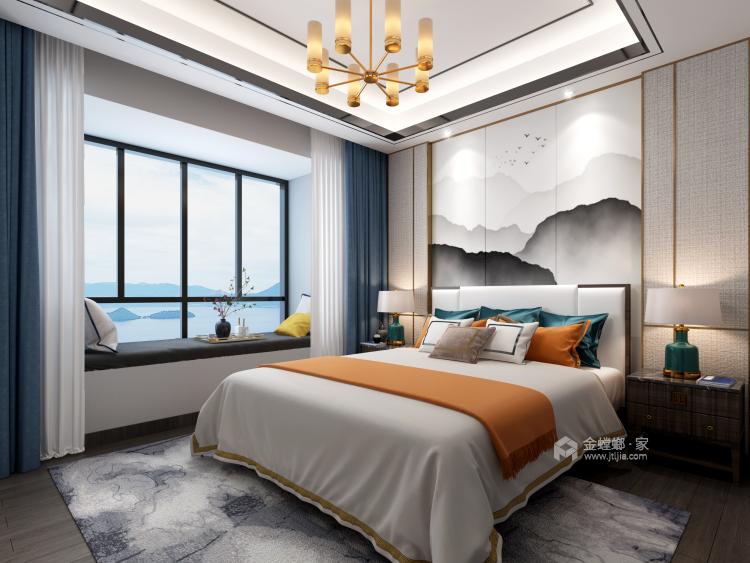新中式品质慢生活-卧室效果图及设计说明