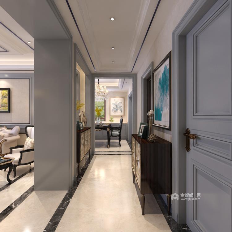 160平3居室 玫瑰金铜屏风,凸显对生活的态度-空间效果图